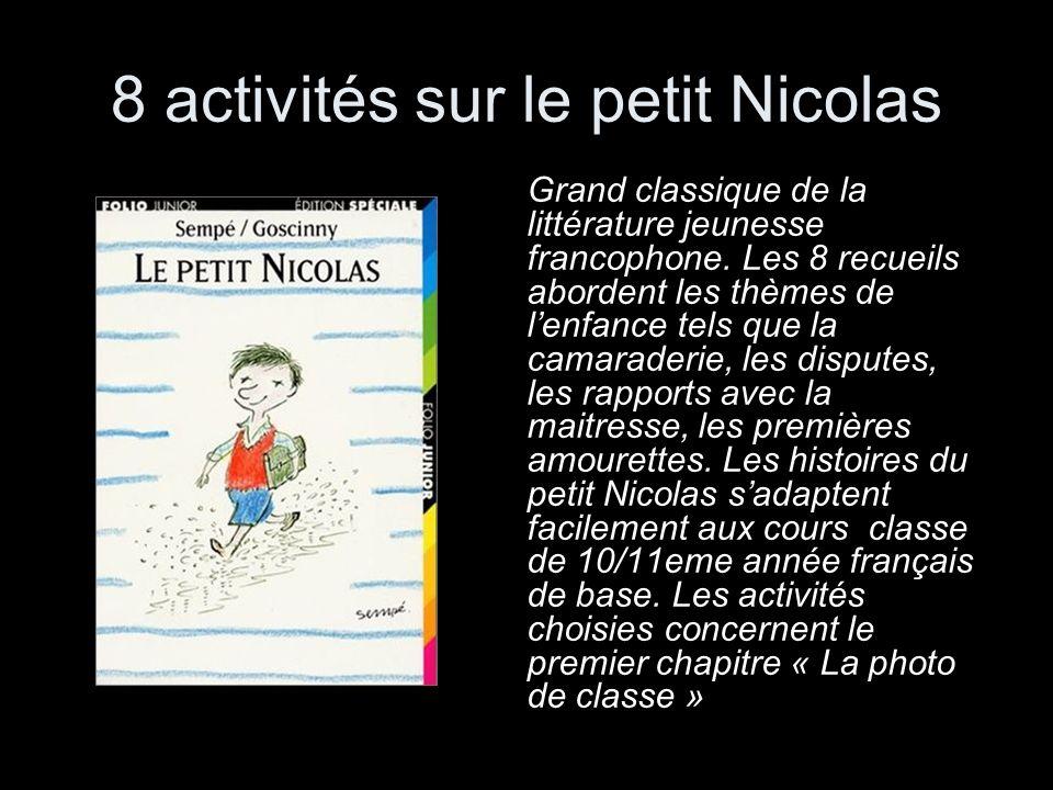 8 activités sur le petit Nicolas