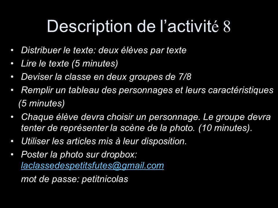 Description de l'activité 8