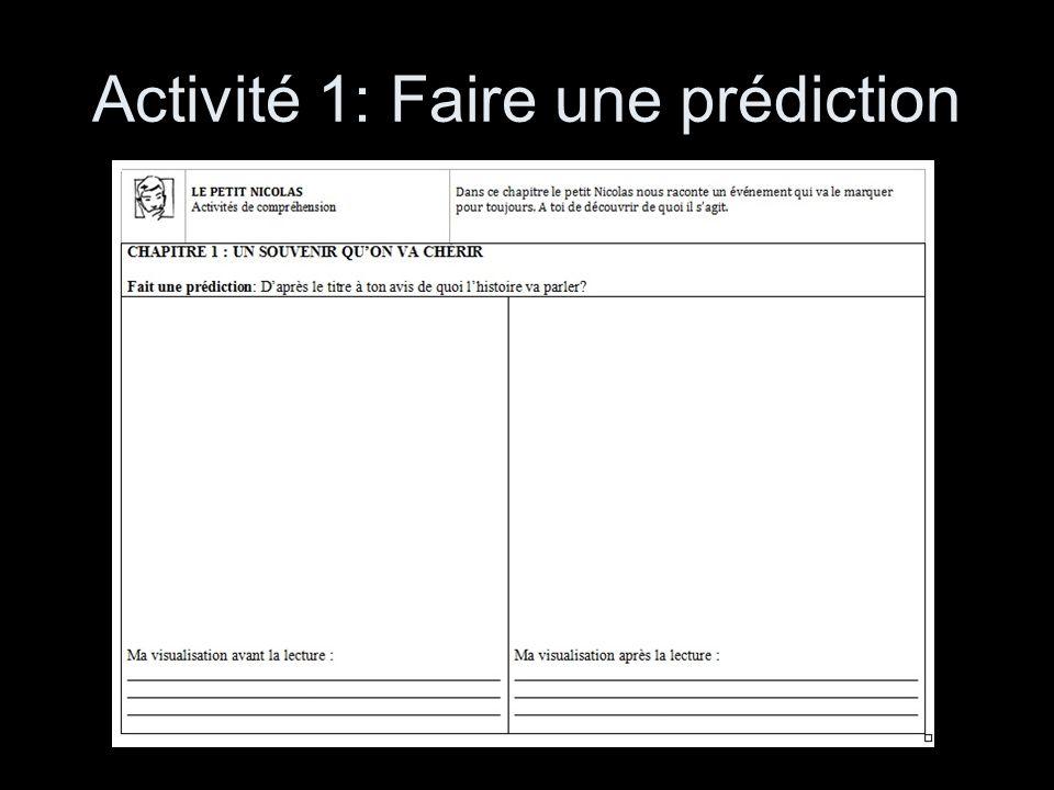 Activité 1: Faire une prédiction