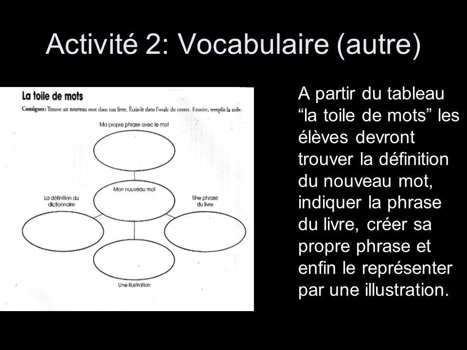 Activité 2: Vocabulaire (autre)