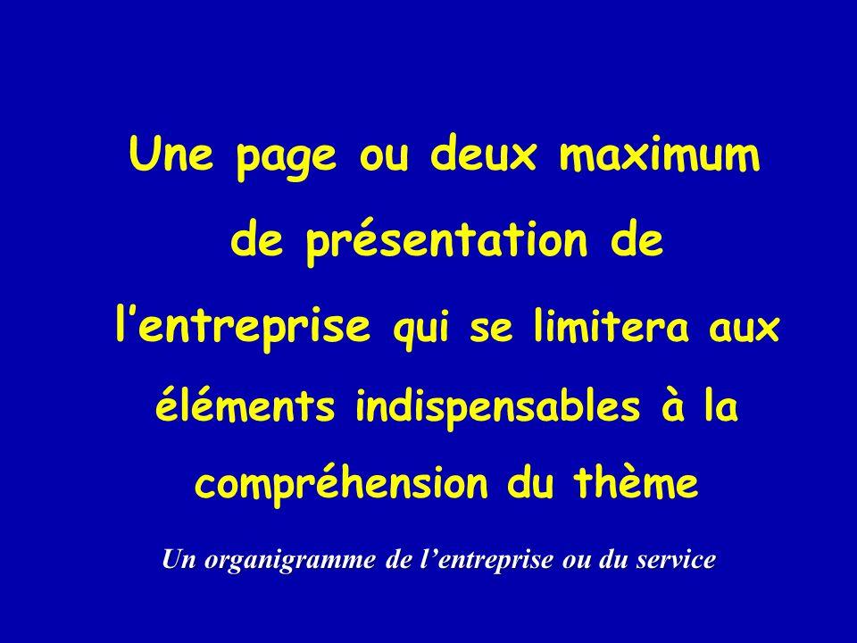 Un organigramme de l'entreprise ou du service