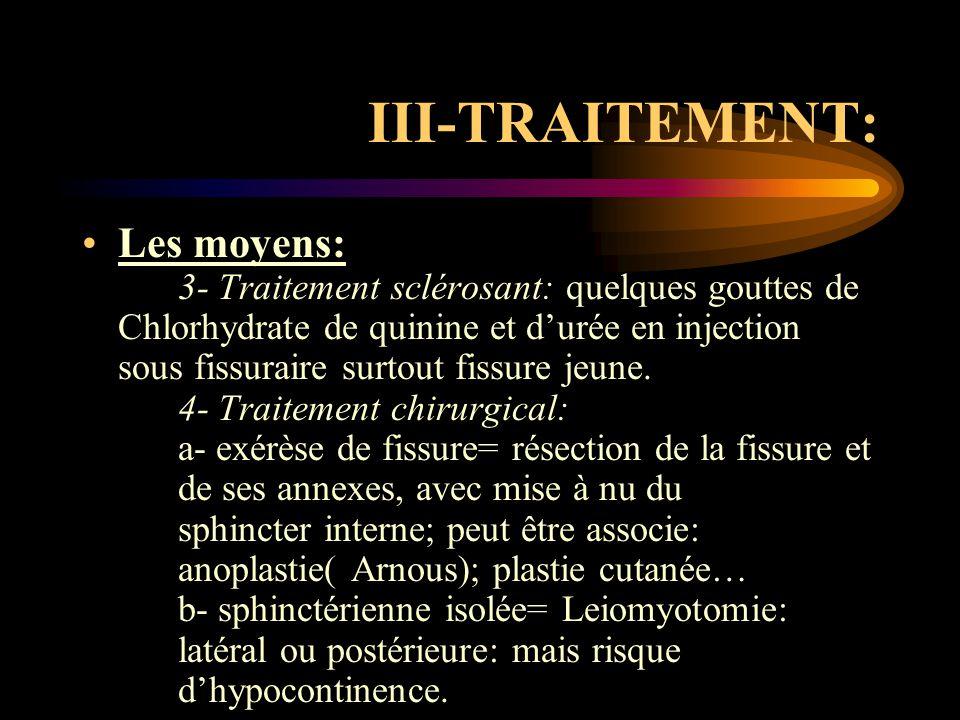 III-TRAITEMENT: