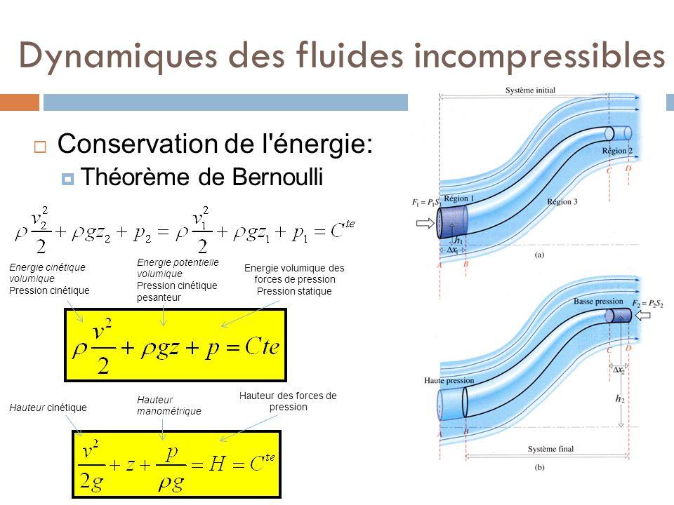 Dynamiques des fluides incompressibles