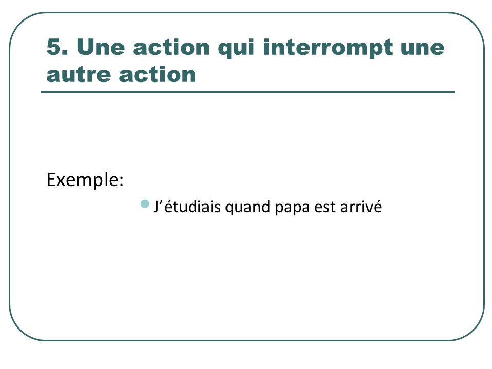 5. Une action qui interrompt une autre action
