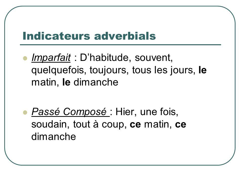 Indicateurs adverbials