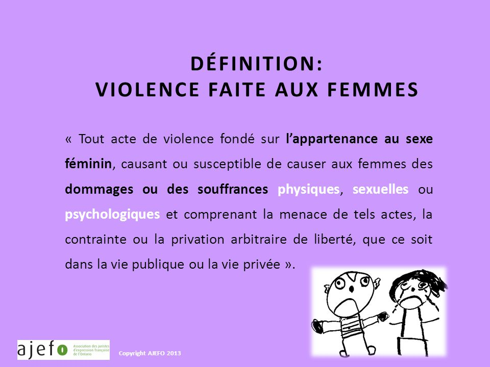 Profil de la victime et de l agresseur de la violence for Definition de l
