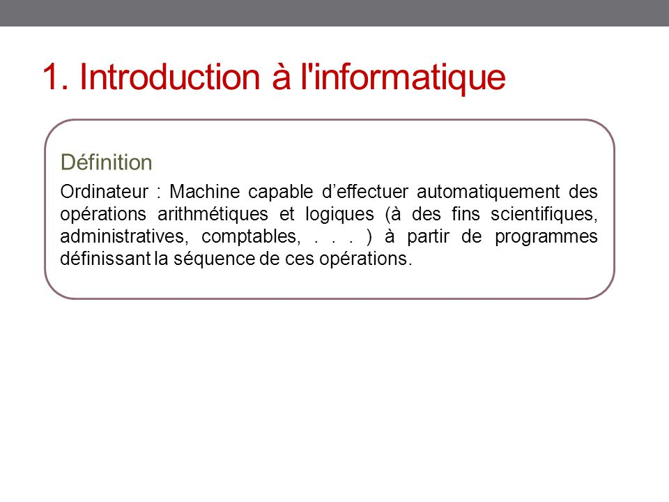 Architecture d 39 un ordinateur ppt video online t l charger for Definition architecture informatique