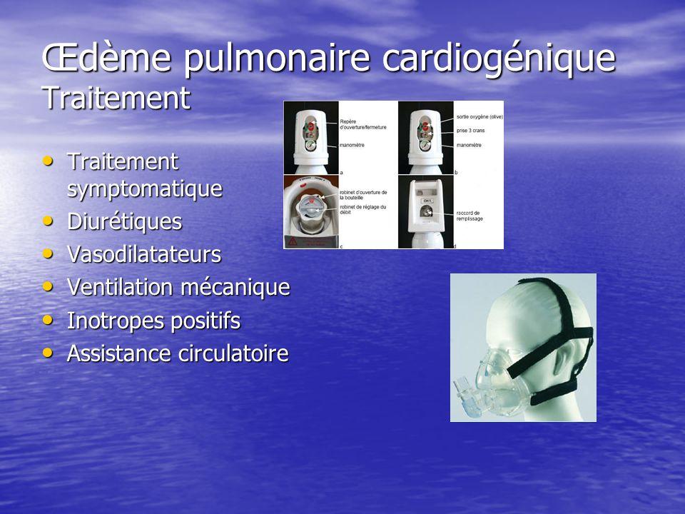Œdème pulmonaire cardiogénique Traitement