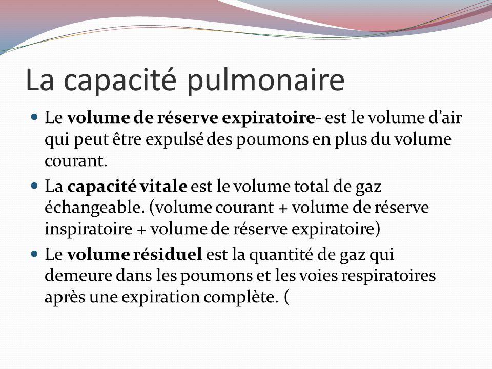 La capacité pulmonaire
