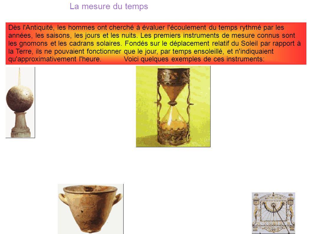 Célèbre La mesure du temps Dès l'Antiquité, les hommes ont cherché à  FW42