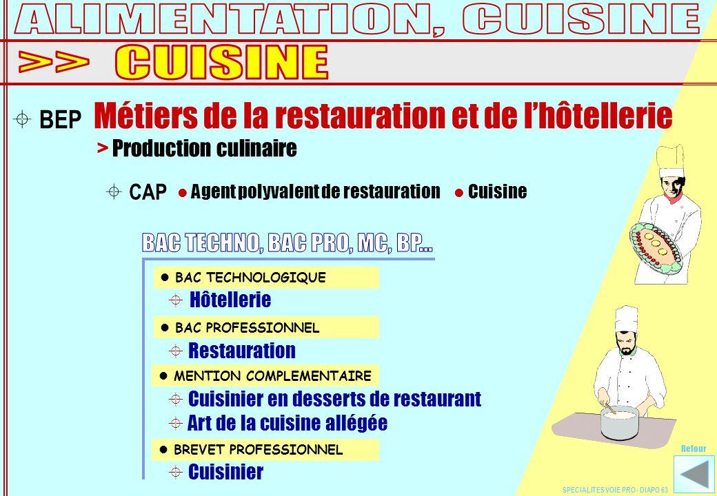 Sp cialit s et les dipl mes ppt t l charger - Brevet professionnel cuisine ...