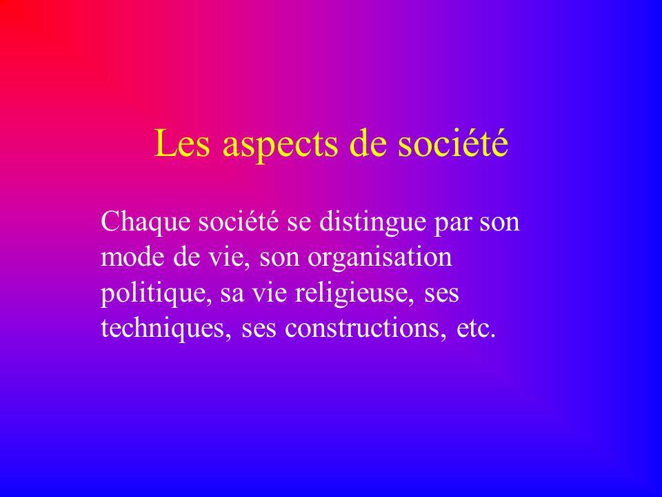 Les aspects de société