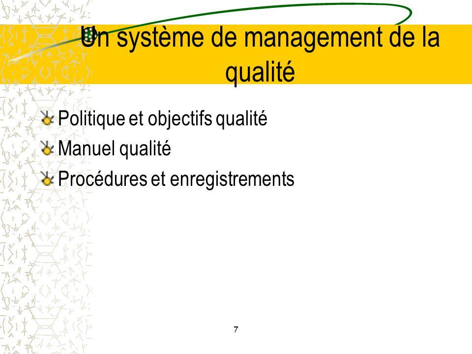Un système de management de la qualité
