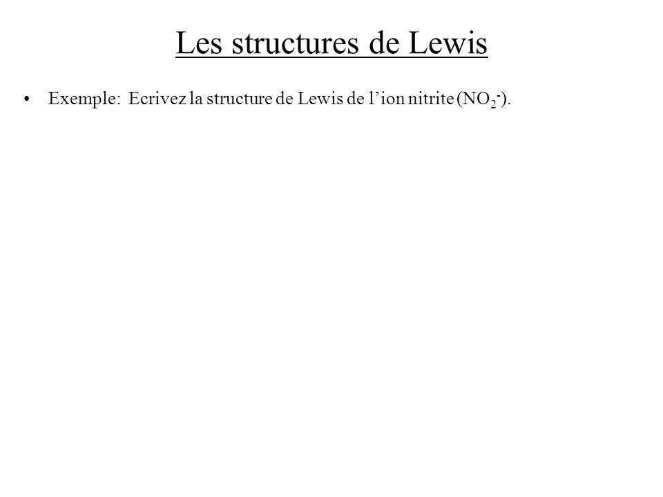 Les structures de Lewis