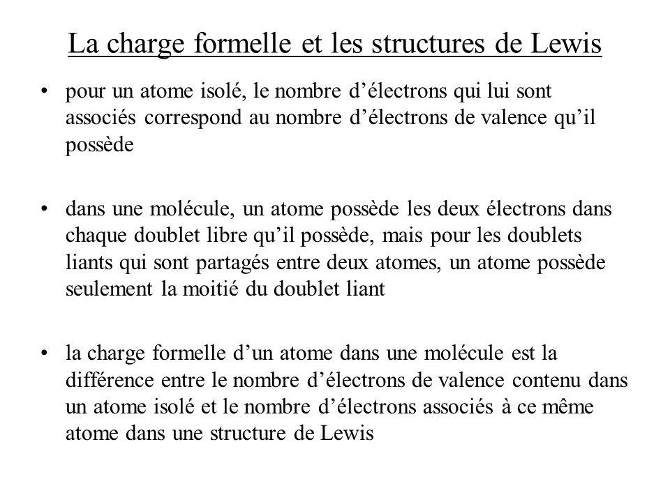 La charge formelle et les structures de Lewis