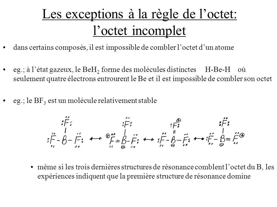 Les exceptions à la règle de l'octet: l'octet incomplet