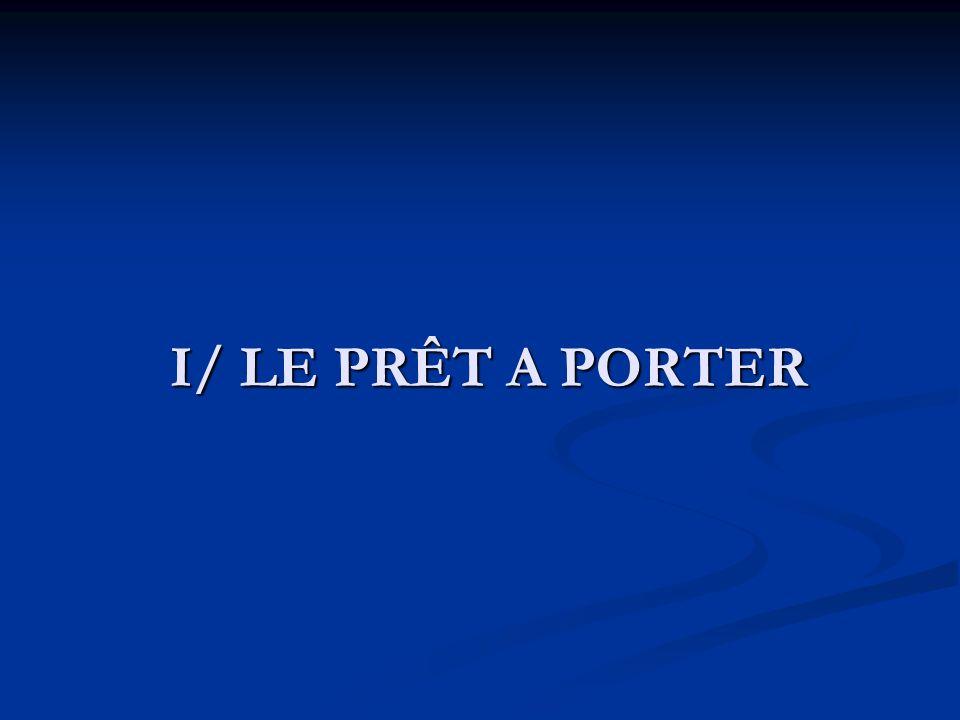 I/ LE PRÊT A PORTER