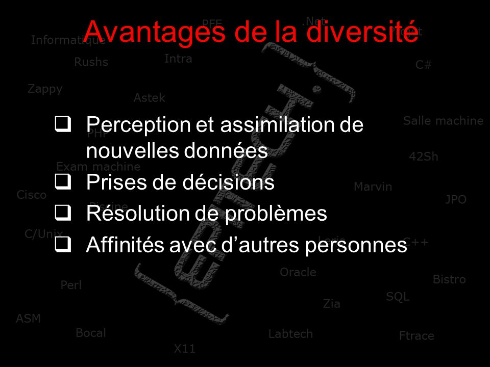 Avantages de la diversité