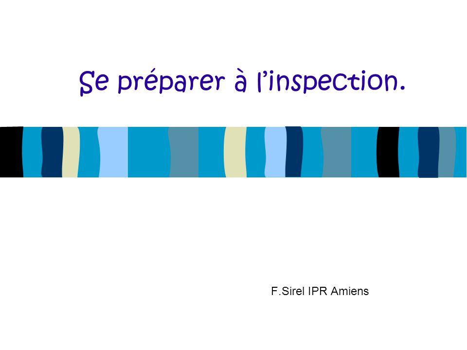 Se préparer à l'inspection.