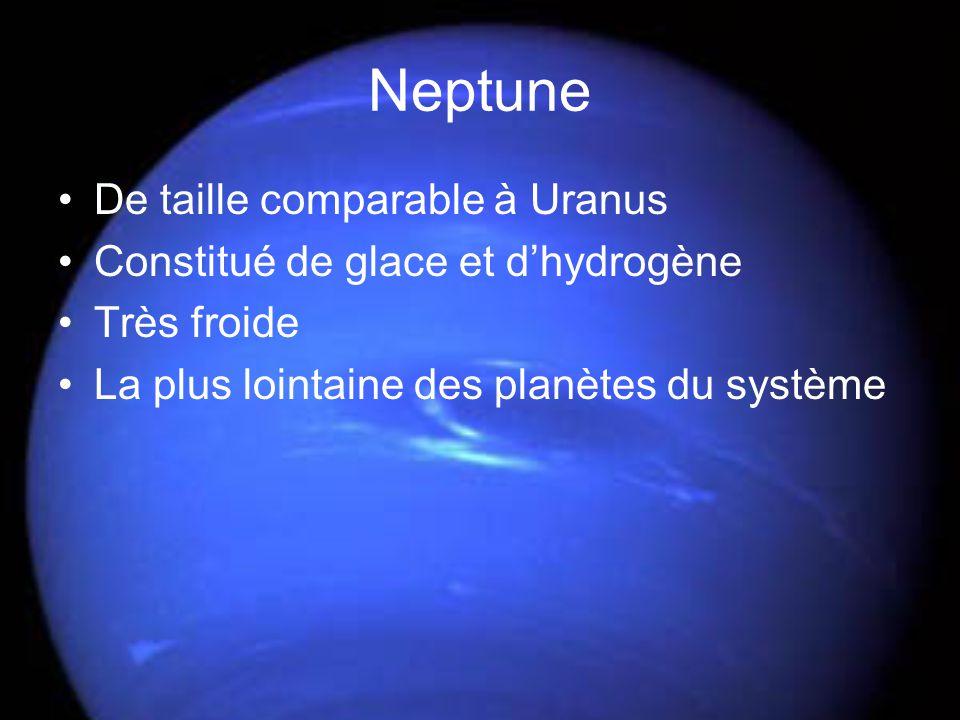 Neptune De taille comparable à Uranus