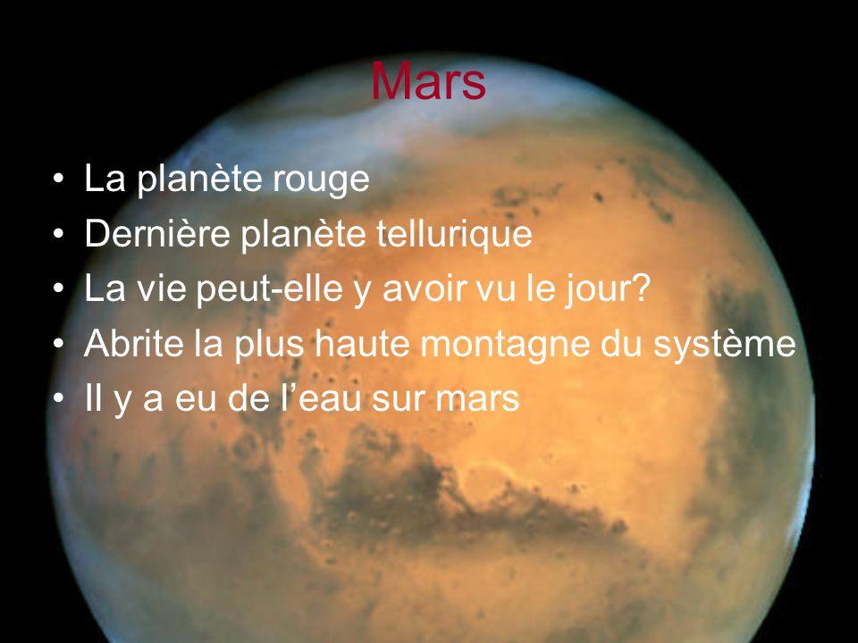 Mars La planète rouge Dernière planète tellurique