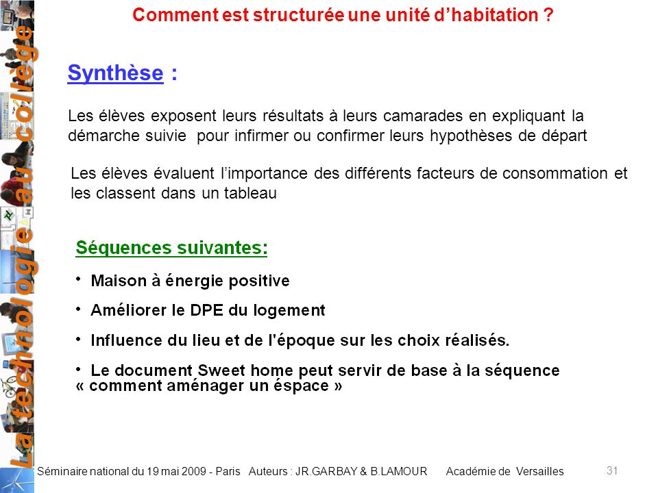 Comment Est Structure Une Unit DHabitation   Ppt Video Online