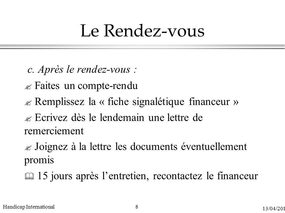 la demande de financement