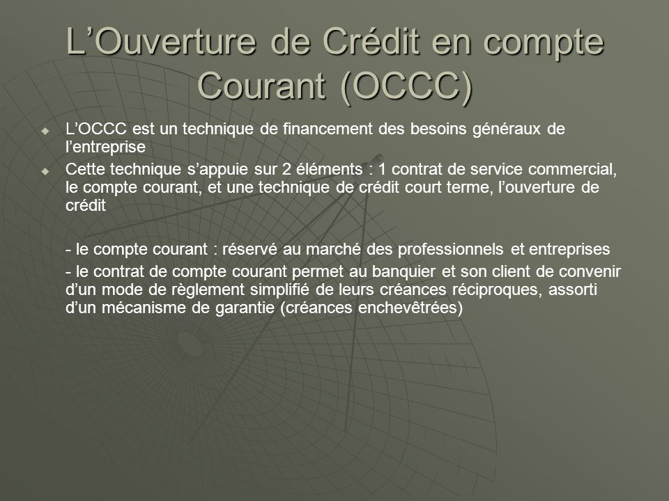 Les cr dits d exploitation ppt video online t l charger - Plafond compte courant credit mutuel ...