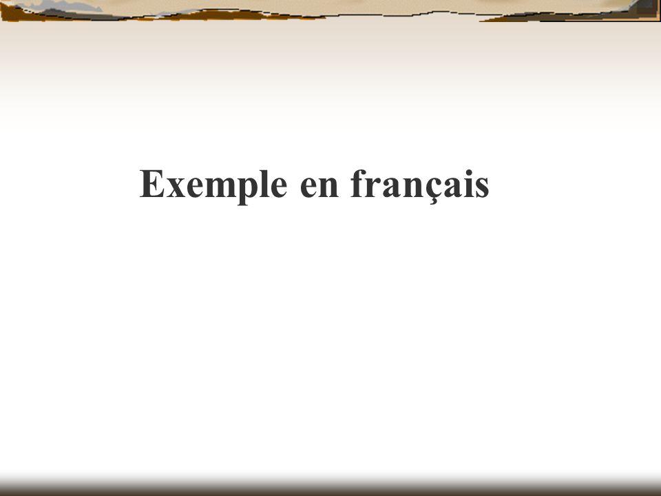 Exemple en français