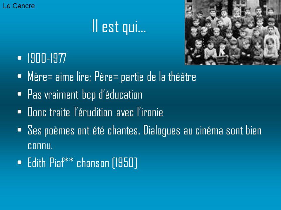 Jaques Prevert Le Cancre Poesie P Ppt Video Online Télécharger