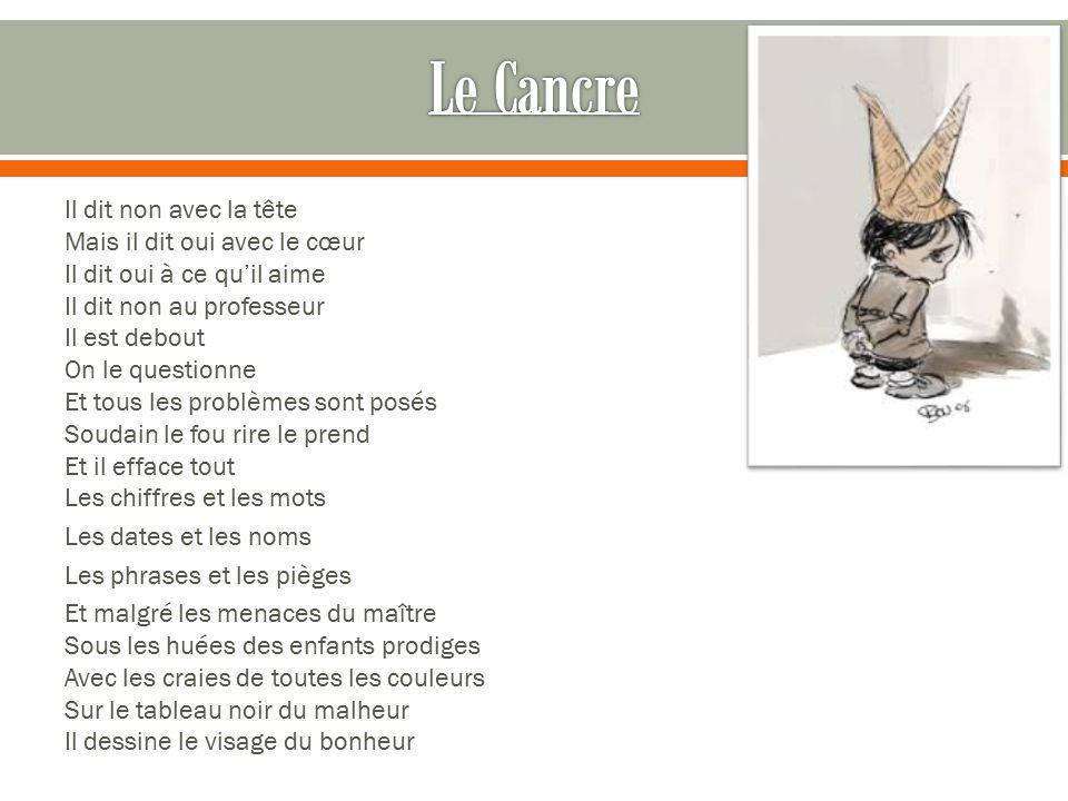 Jacques pr vert po te et sc nariste fran ais ppt t l charger - Illustration de la poesie le dormeur du val ...