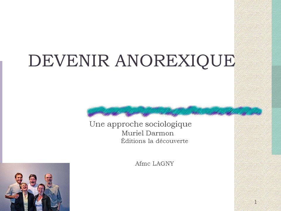 devenir anorexique une approche sociologique pdf