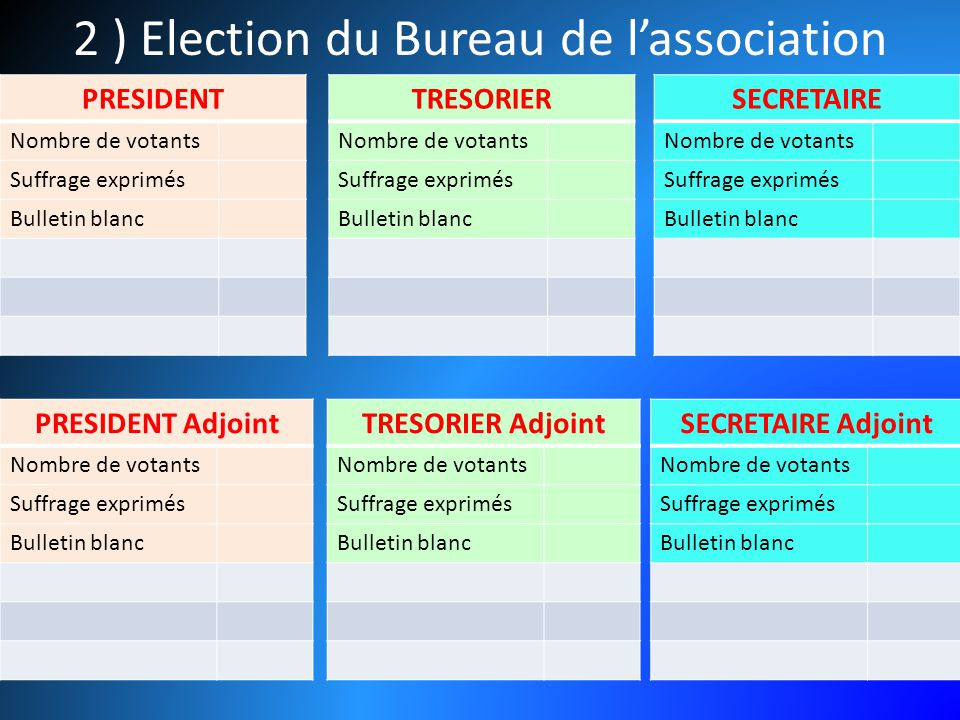 Election bureau association election bureau association - Election bureau association loi 1901 ...