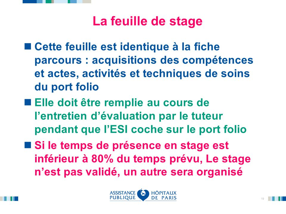 La feuille de stage