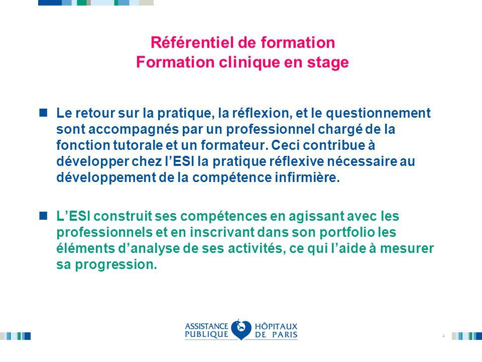 Référentiel de formation Formation clinique en stage