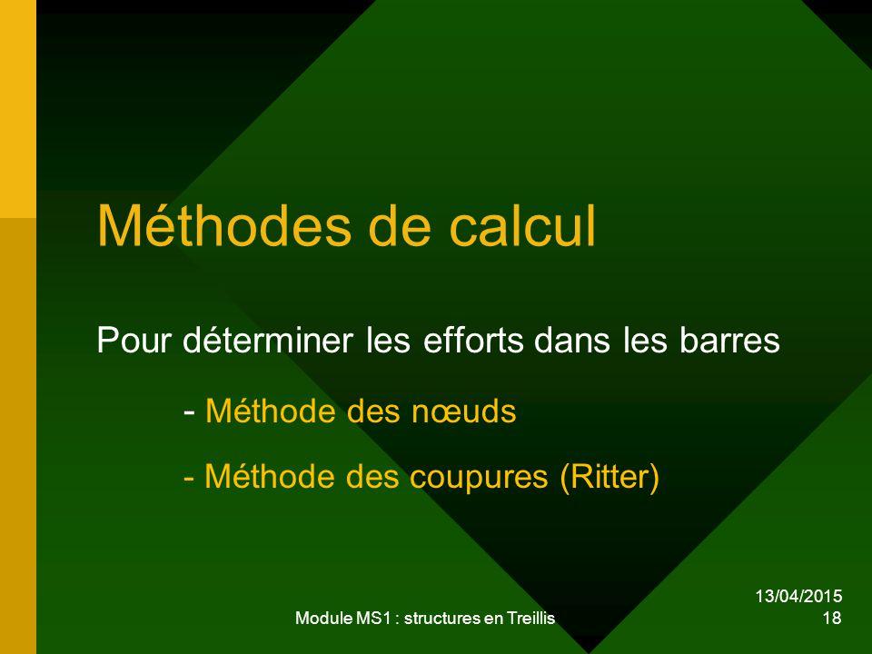 Module MS1 : structures en Treillis