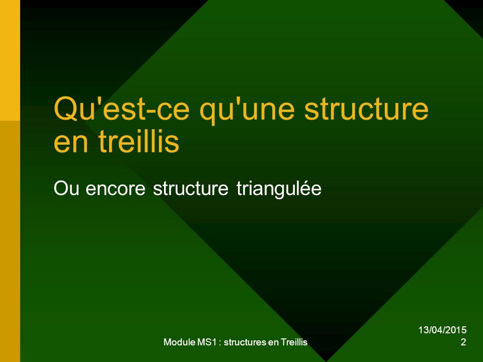 Qu est-ce qu une structure en treillis