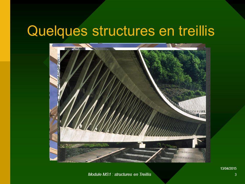 Quelques structures en treillis