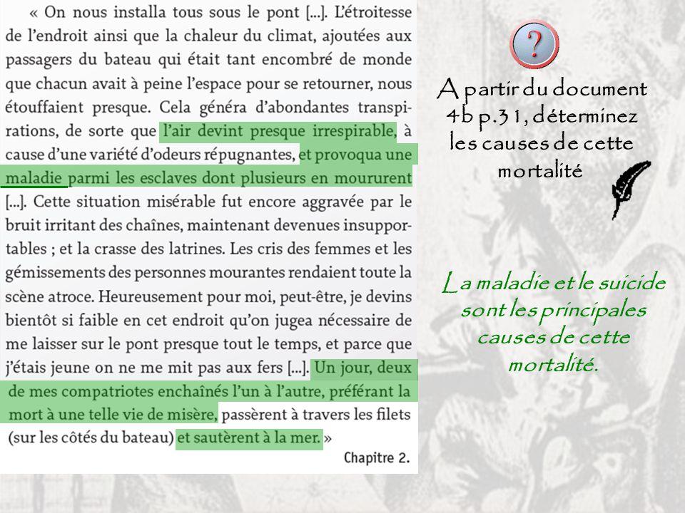 A partir du document 4b p.31, déterminez les causes de cette mortalité