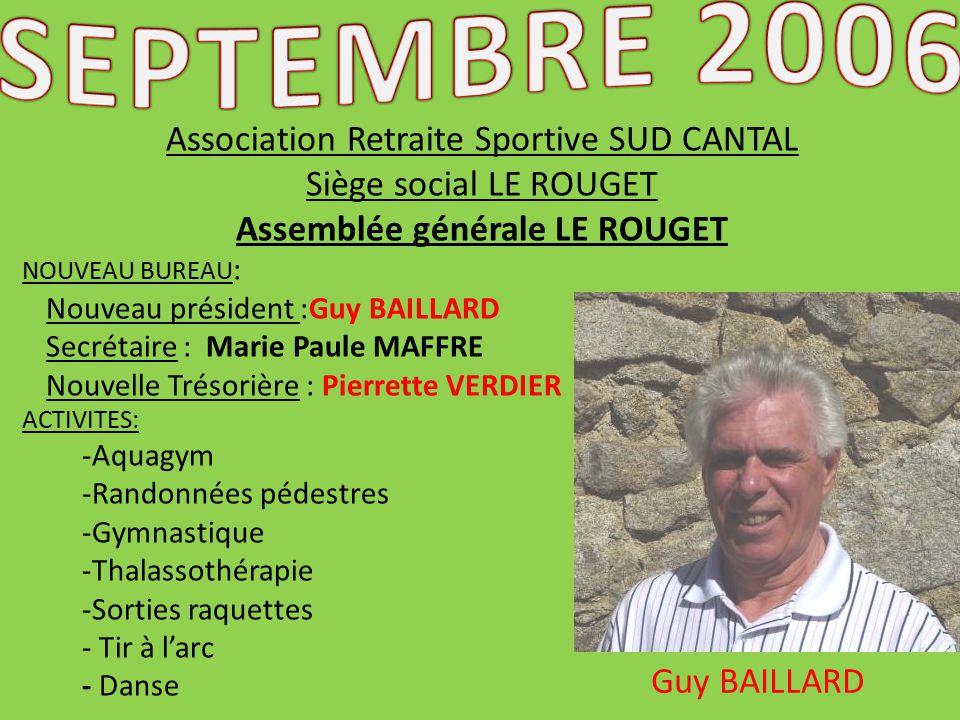 Association retraite sportive sud cantal ppt t l charger - Assemblee generale association renouvellement bureau ...