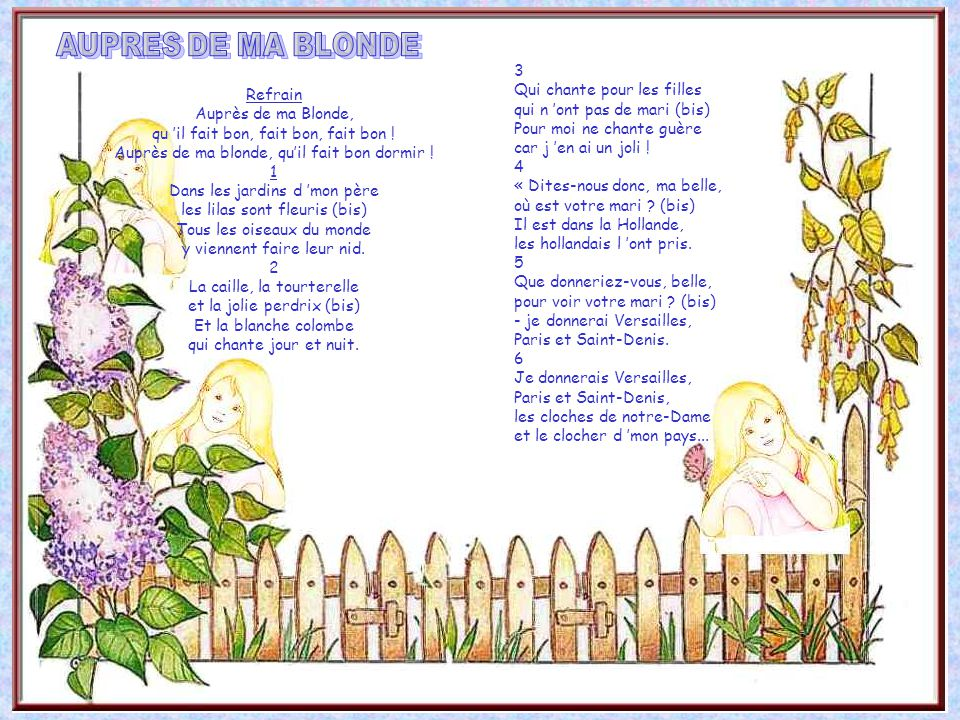 Les chansons de notre enfance les chansons de notre - Au jardin de mon pere les lilas sont fleuris ...