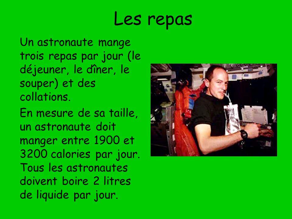Manger dans l espace l astronaute canadienne julie payette tartine une tortilla au beurre d - Repas de tous les jours ...