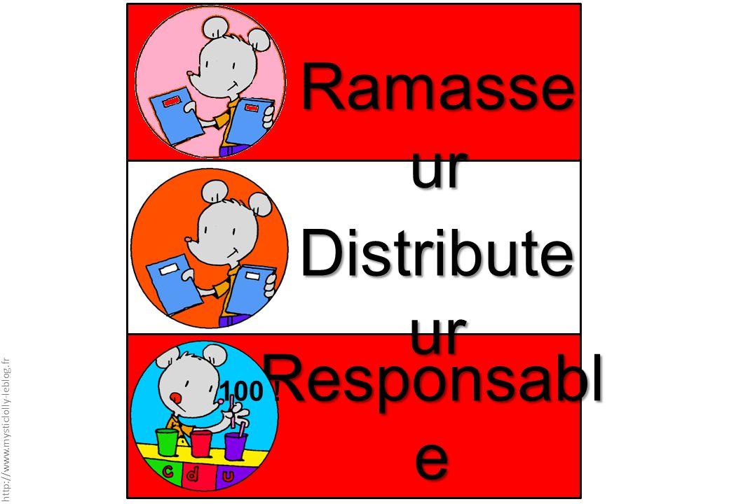 Ramasseur Distributeur Responsable Chaque jour compte 100 !
