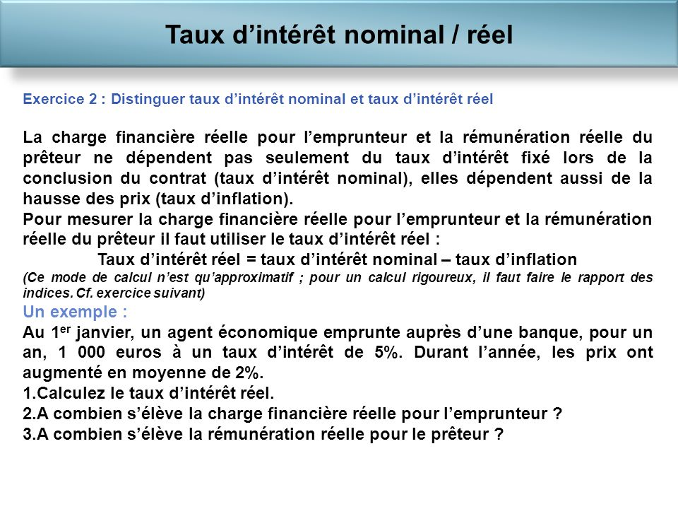 Le financement de l conomie ppt t l charger - Calcul taux d interet legal ...