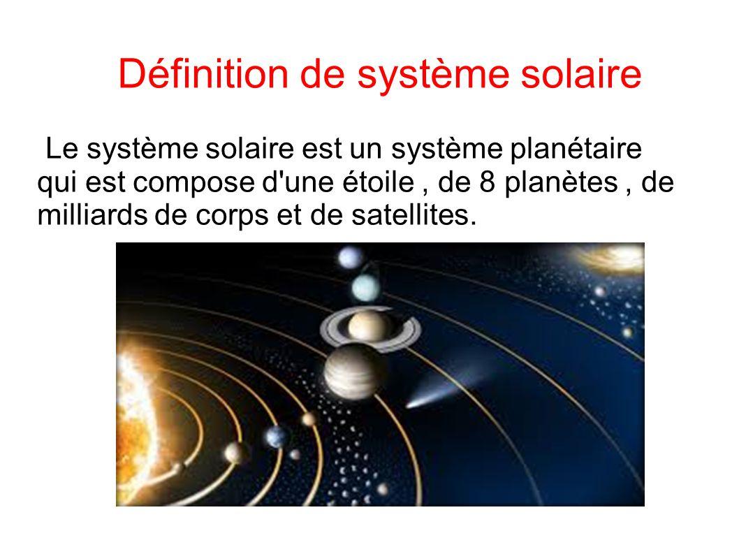 Fabuleux Le système solaire Sommaire : Définition de système solaire - ppt  WK41