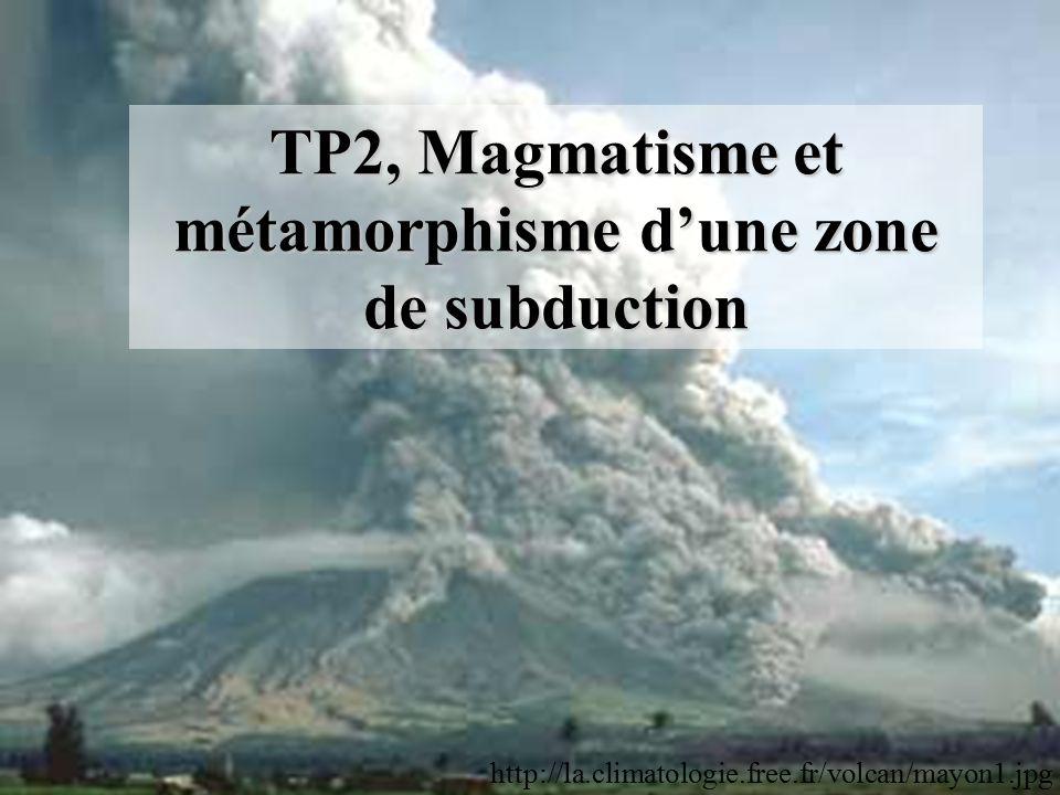 TP2, Magmatisme et métamorphisme d'une zone de subduction