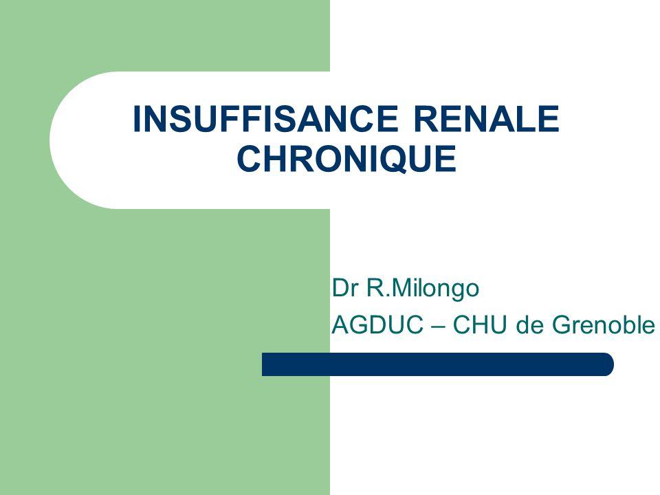 INSUFFISANCE RENALE CHRONIQUE - ppt video online télécharger