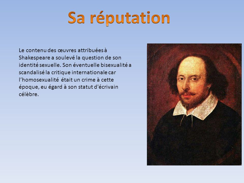 William shakespeare to be or not to be ppt t l charger for Statut ecrivain