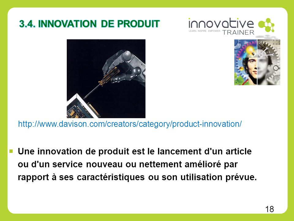 Module 2 types d innovation ppt video online t l charger for Idee innovation produit