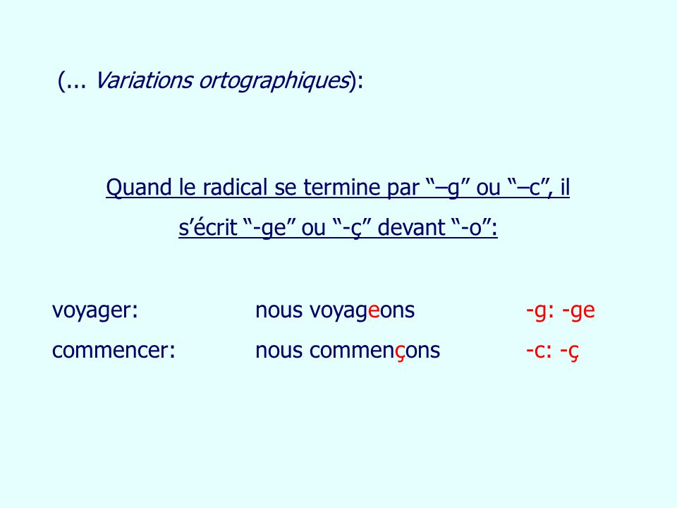 (... Variations ortographiques):